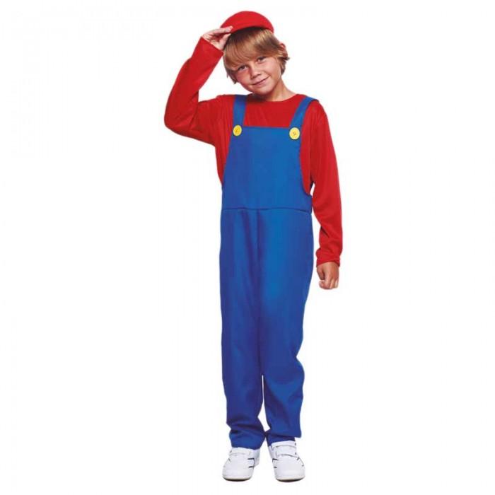 Disfraz Fontanero Rojo Niño Cosplay Mario Bros
