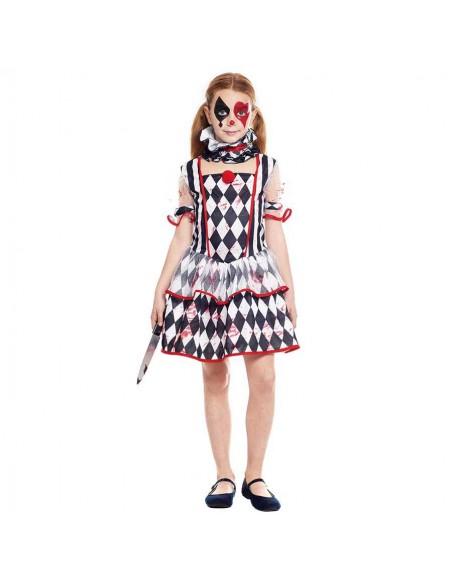 Disfraz Arlequín Sangrienta Niña Halloween