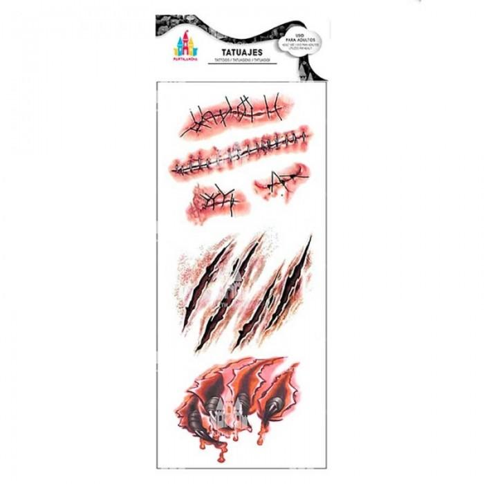 Tatuajes Temporales Cortes Desgarros Halloween