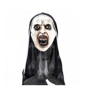 Máscara Monja Dientes Halloween Látex