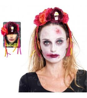 Diadema Flores Catrina Disfraz Halloween