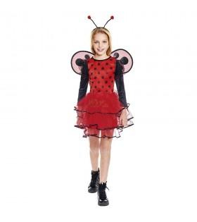 Disfraz Mariquita Coqueta niña infantil para Carnaval