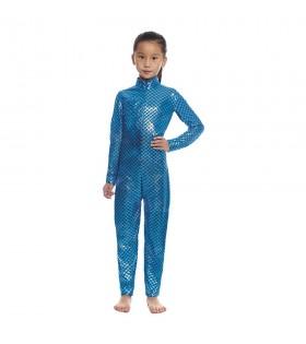 Mono Maillot Pez Sirena Azul Infantil Unisex