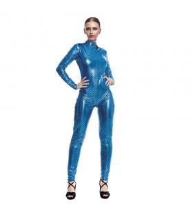 Mono Maillot Pez Sirena Escamas Azul Mujer