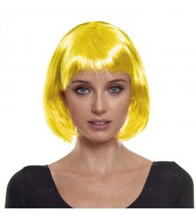 Peluca Bob Corta Amarilla Disfraz