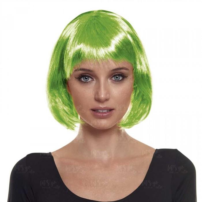 Peluca Bob Corta Verde Disfraz