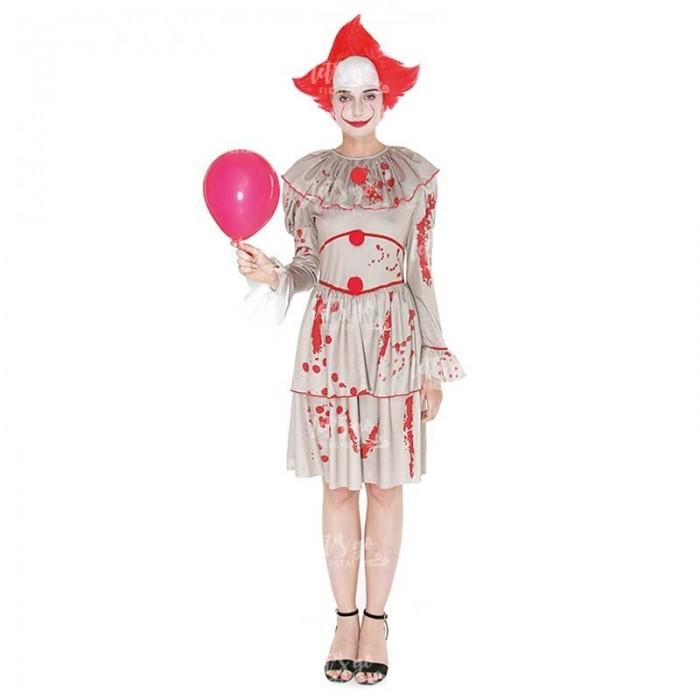 Disfraz Payasa Sádica Retro Mujer Halloween