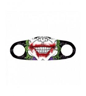 Mascarilla Negra Mad Clown Jocker Halloween