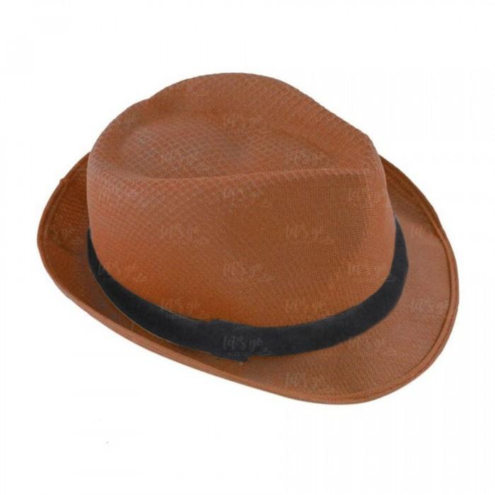 Sombrero con ala marrón borsalino Fiesta