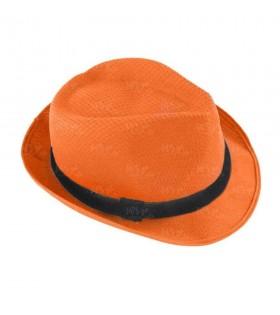 Sombrero con ala naranja borsalino Fiesta