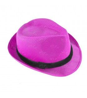 Sombrero con ala fucsia borsalino Fiesta