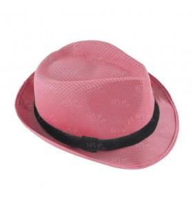 Sombrero con ala rosa borsalino Fiesta