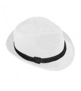 Sombrero con ala blanco borsalino Fiesta
