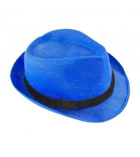 Sombrero con ala azul oscuro borsalino Fiesta