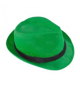 Sombrero con ala Verde Pino borsalino Fiesta