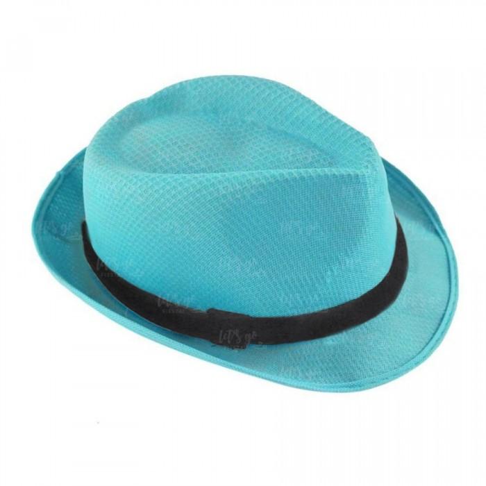 Sombrero con ala azul cielo borsalino Fiesta