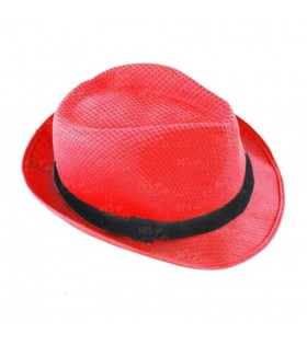 Sombrero con ala rojo borsalino Fiesta