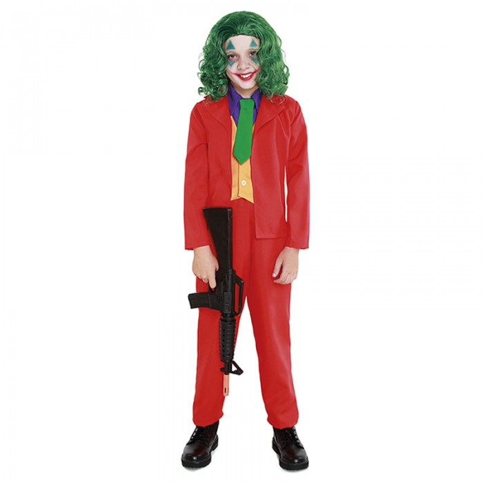 Disfraz Mad Clown Joker Niño