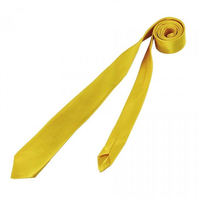 Corbata fina Adulto Amarilla Accesorio Fiesta