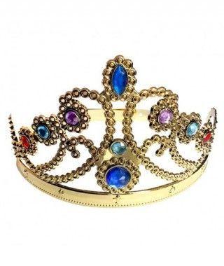 Corona Tiara Dorada Ajustable de Princesa Accesorio