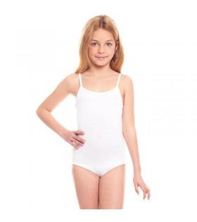 Maillot Tirantes Blanco Infantil