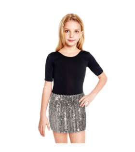 Minifalda Lentejuelas Plata infantil