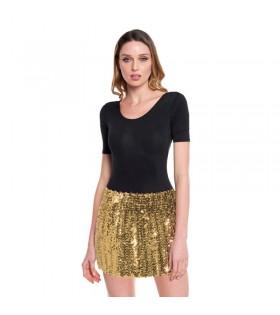 Minifalda Lentejuelas Oro adulto