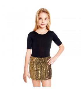 Minifalda Lentejuelas Oro infantil