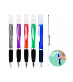 Bolígrafo con Spray para Desinfectar Colores Surtidos