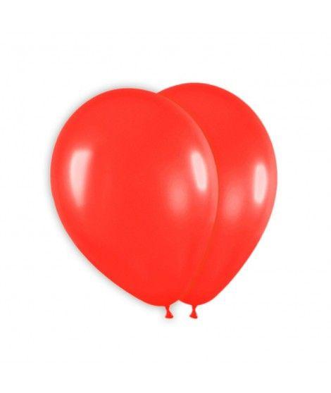 Globo Rojo Liso 25 cm (8 uds) Látex