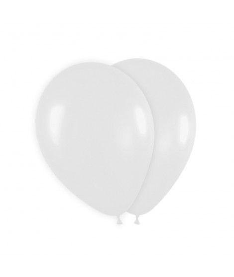 Globo Blanco Liso 25 cm (8 uds) Látex