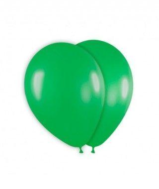 Globo Verde Liso 25 cm (8 uds) Látex