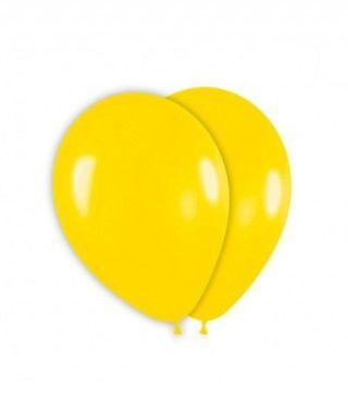 Globo Amarillo Liso 25 cm (8 uds) Látex