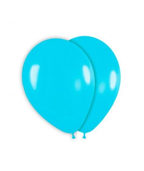 Globo Azul Celeste Liso 25 cm (8 uds) Látex