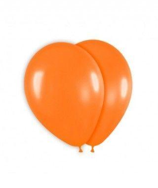 Globo Naranja Liso 25 cm (8 uds) Látex