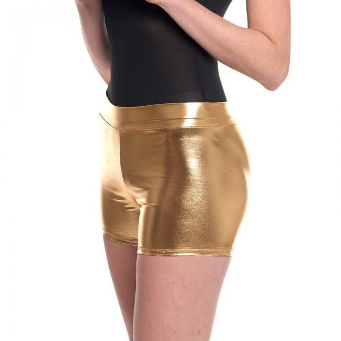 Short Metalizado Disfraz Mujer Oro