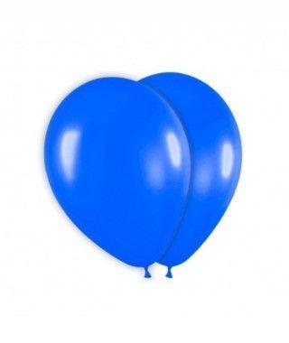 Globo Azul Liso 25 cm (8 uds) Látex