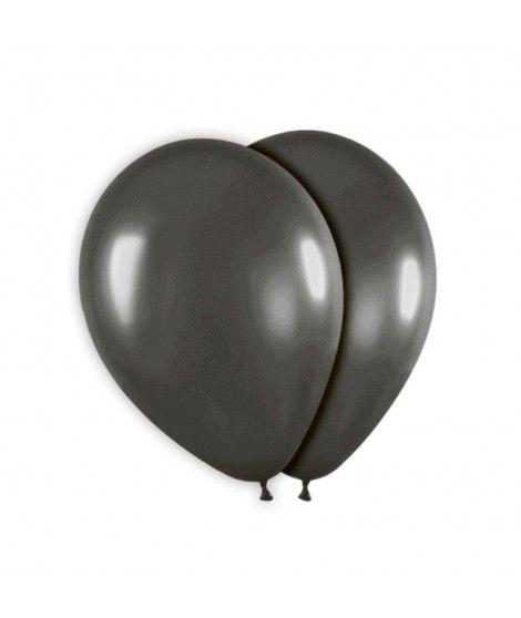 Globo Negro Liso 25 cm (8 uds) Látex