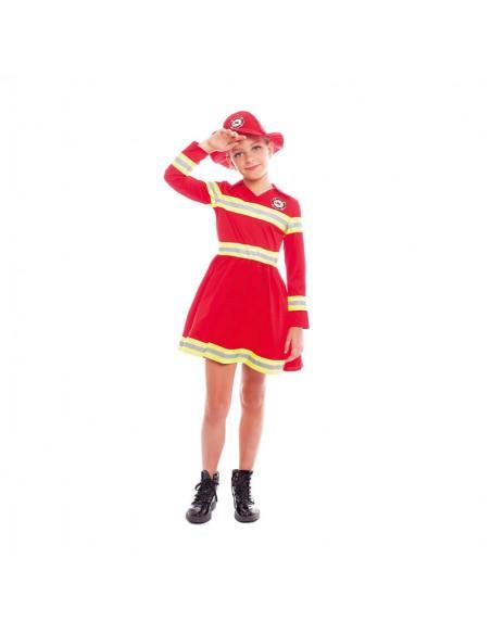 Disfraz Bombera niña infantil para Carnaval