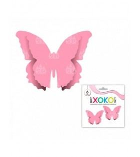 Mariposas Papel Decoración Rosas Lisas (6 pcs) Cumpleaños Baby Shower