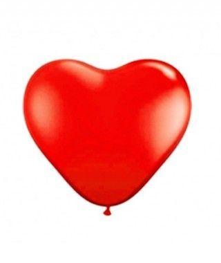 Globos Corazón Rojo (5 uds) Látex