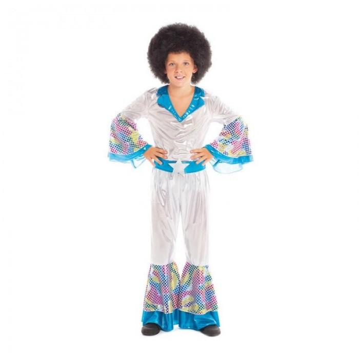 Disfraz Disco Afro Niño Ochentero Carnaval