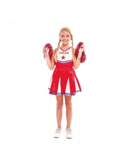 Disfraz Animadora Cheerleader Niña Carnaval