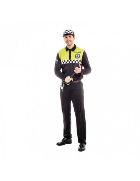 Disfraz Policía Local Hombre Checkers Carnaval