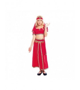 Disfraz Hindú Niña Sari Rojo Bollywood Carnaval