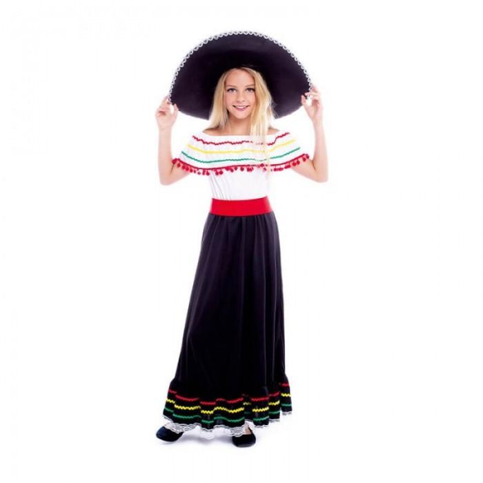 Disfraz Mexicana Niña Carnaval