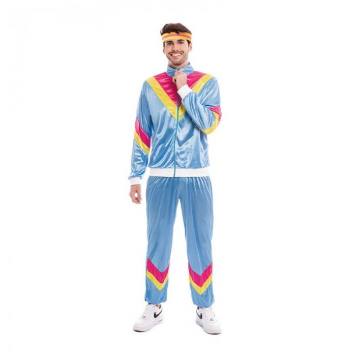 Disfraz Ochentero Chandal Azul Hombre