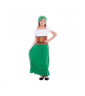 Disfraz Mesonera Medieval niña Carnaval