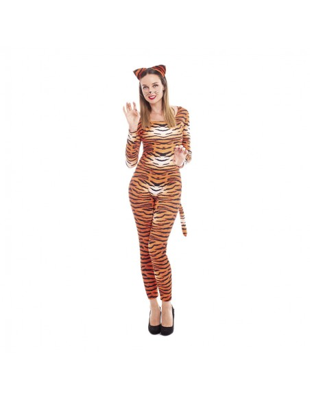 Disfraz Tigresa Mujer Sexy Mono Cuerpo Entero