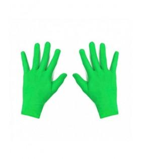 Guantes Niños Infantiles Verde Disfraz